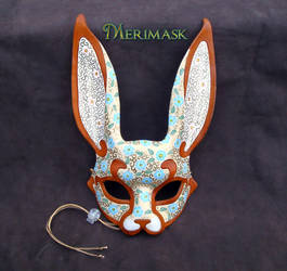 Floral Bunny Mask by merimask