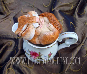 Dormouse in Pitcher by merimask