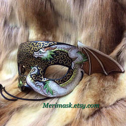 Little Green Dragon Mask by merimask