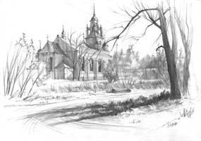Bialobrzegi church by gkorniluk