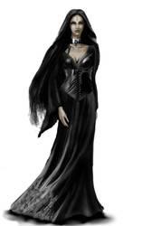 Dark Sorceress from the Dark Eye RPG by Ghosthornet