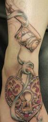 heart locket and key by fllann