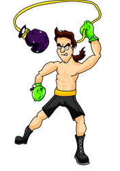 Punch-Out!! Aran Ryan (Coloured) by SonicSuperBoom1