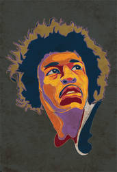 Jimi Hendrix by Temple00