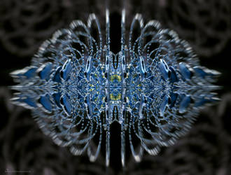 capricious blue symmetrical neuro fractal by MatzeR