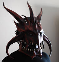 Dragon King Leather Helm by Epic-Leather