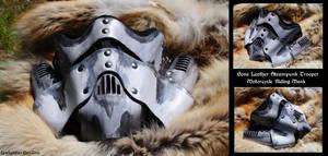 Bone Steampunk Trooper MC Mask by Epic-Leather