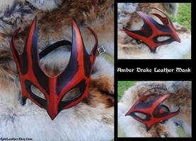 Amber Drake Leather Mask by Epic-Leather