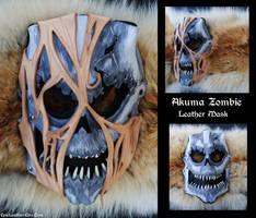 Akuma Zombie Leather Mask by Epic-Leather