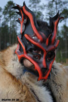 Kyuubi Demon Fox Leather Mask by Epic-Leather