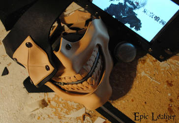 Tokyo Ghoul Kaneki Mask - WIP 2 by Epic-Leather