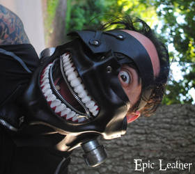 YOU LOOK TASTY! Leather Tokyo Ghoul Mask by Epic-Leather