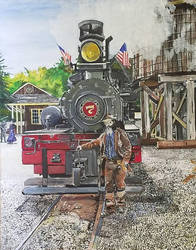 Its 1905, and a bandito stands in front of no 7 by CwerkzStudios