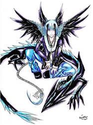 Dark Ice Dragon by Black-Strawbarrie