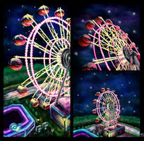 Black Adventures Ferris Wheels by shihfu
