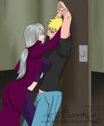 Surprise Attack - Naruto and Charmcaster by BloodyRiley