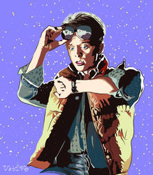Michael J Fox at Back to the Future on iPad by yumi71