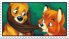 Disney Fox and Hound stamp by Pouasson-de-oro