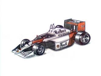 Ayrton Senna's McLaren MP4 by Yatabe