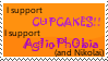 I support cupcakes, yo by katzypotter