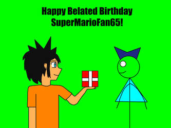 Happy Belated Birthday SuperMarioFan65 by Willy276