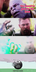 Thanos snaps his Finger at 8-Ball by Willy276
