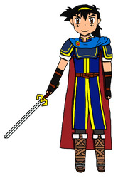 Ash Ketchum as Marth (Collab) by Willy276