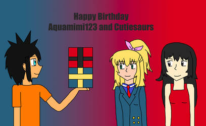 Happy Birthday Aquamimi123 and Cutiesaurs by Willy276