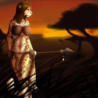 Safari Sunset by ExcitedGargoyle