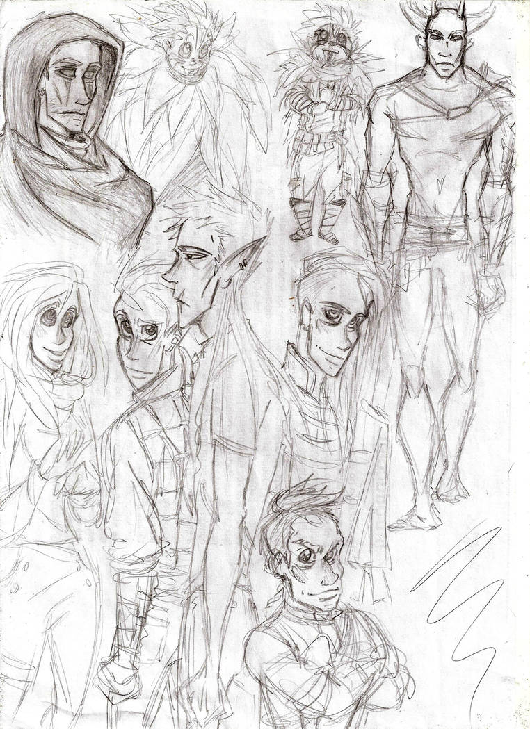 Sketch - Random characters again by CeciiLottersberger
