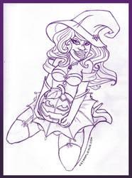 Halloween Sketch by starplexus