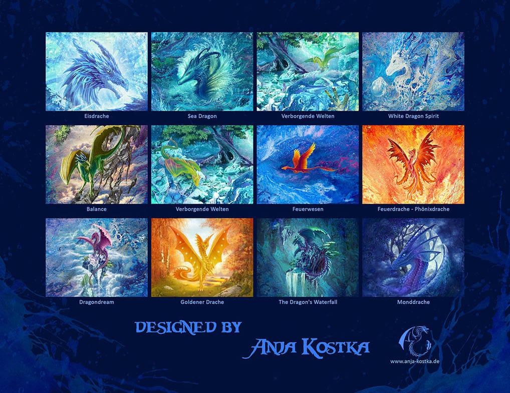 Drachen Kalender 2019 back by ArkaEdri