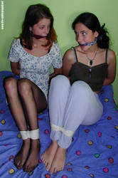 bound and gagged girls by boundNbarefoot