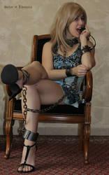 Blondie Lhunara in shackles 3 by SylarEtLhunara