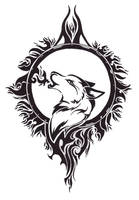 .:Wolf Tattoo Design:. by Angel-Of-Mist