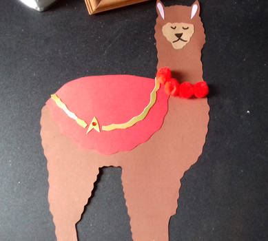 Redshirt Llama by CreativeKittyDe