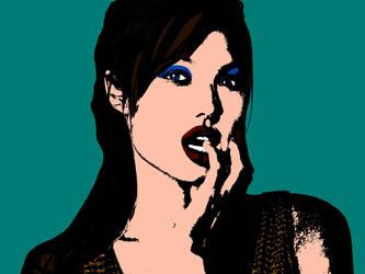 Angelina Jolie (Andy Warhol Pop Art Style) by angel-jolie