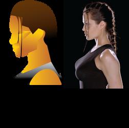Lara Croft Geometric Profile by angel-jolie