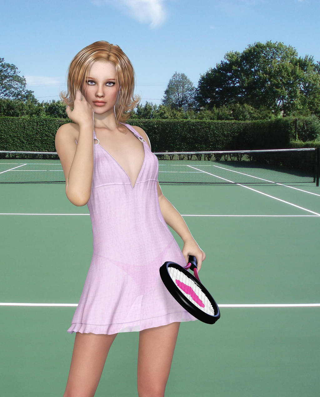 Anyone For Tennis? by Roy3D