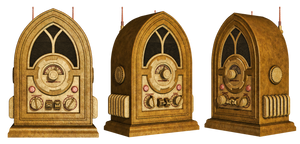 Steampunk Radio PNG Stock by Roy3D