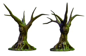 Spooky Tree 03 PNG Stock by Roy3D
