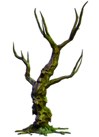 Spooky Tree 05 PNG Stock by Roy3D
