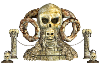 Spooky Skulls PNG Stock 01 by Roy3D