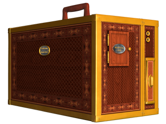 Steampunk Box PNG Stock by Roy3D