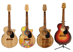 Guitar PNG Stock by Roy3D