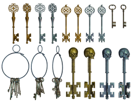Keys PNG Stock by Roy3D