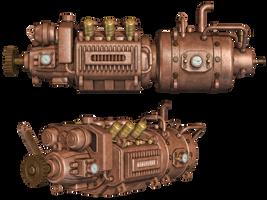 Steampunk Engine by Roy3D