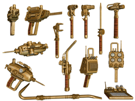 Steampunk Tools by Roy3D