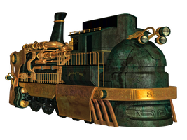 Steampunk Train 01 PNG Stock by Roy3D