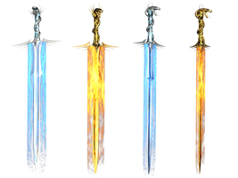 Fantasy Swords PNG Stock by Roy3D